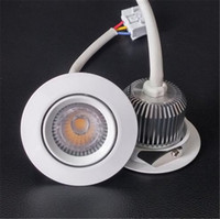Wholesale 10pcs New W Driverless HV COB LED Downlight Indoor AC200 V Dimmable Recessed LED Ceiling Spot Lights Cutout D70mm