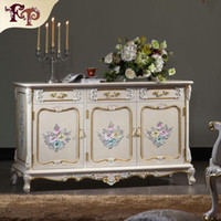 antique wood floors - French antique furniture baroque handcraft cracking paint floor cabinet TV cabinet