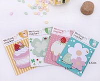 Wholesale 80pcs cute cake memo pad heart notes writing marker Sticky notes office sticker kawaii planner stickers paper book