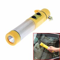 Wholesale Portable in Multi functional Life hammer safety hammer Flashlight Car Emergency Rescue Tool