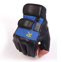 Wholesale Outdoor sports half refers to fingerless half for men and women Cycling non slip PU leather gloves