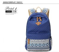 Wholesale New Ladies Girls Canvas Vintage Backpack Rucksack College Shoulder School Bag honestgirl09