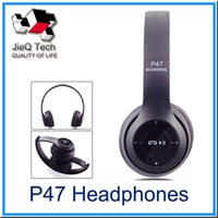 Wholesale P47 Headphones MP3 player Bluetooth Wireless Headband Earphone Music Headset With Retail Box For Aplle Samsumg LG Mobile Phone