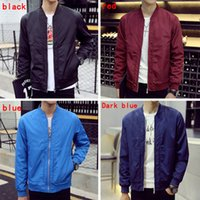 Wholesale Stand Collar Casual Patchwork Jackets Slim Natural Color Modal Jackets Coats with Color Zipper Pocket A50