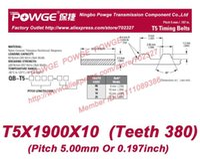 belt pitch length - 10pcs T5 Timing belt T5X1900X10 Teeth Width mm length mm Pitch mm T5X1900 Neoprene Fiberglass core T5