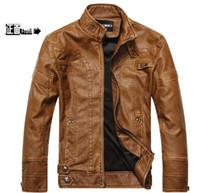 Wholesale Fall Winter Men PU Leather Jacket Man Motorcycle Designer Plus Size XXXL XL XL XL Fleece Waterproof Windproof Coat