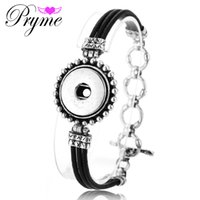 beaded jewelry boxes - New Interchangeable Snap Button Bracelet Pryme18mm DIY Jewelry Accessories Bangle PB021