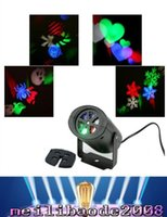 Wholesale Multi color led Laser Light Moving Rgbw Projection LED Lights Holiday whit Switchable Pattern Lens Christmas Halloween party MYY