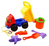Wholesale beach car toy with many tools good gift toy for baby kid forklift shovel toy