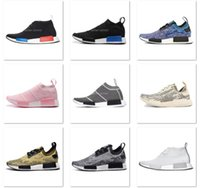 Wholesale Double Box NMD Runner Mid Primeknit PK C1 R1 Camo City Sock Mens and Womens Sports Running Shoes