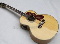 chinese acoustic guitars - New Arrival Chinese J200 Tiger Flame Maple solid top Acoustic Guitar with fishman J200 Electric Guitar