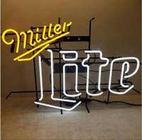 Wholesale Brand New Miller Lite Neon Light Real Glass Neon Sign Beer light