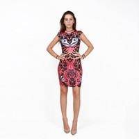 adult butterfly wings - Women Sexy bodycon Dress Creative D Digital Printed cicada s wing Vintage Totem butterfly Scrawl Tiger Skin mini Dresses