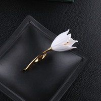 beautiful atmosphere - Golden Tulip brooch symbol of grace and elegance of beautiful female corsage pin pin brooch atmosphere ladies coat