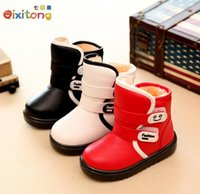 baby boots winter waterproof - 2016 kids winter baby shoes boots winter casual waterproof martin girls boots warm shoes children toddler leather shoes boys rubber boots