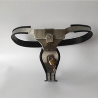 female chastity belt - M147 new bondage female stainless steel lockable adjustable chastity devices with vagina anal sex toys plug sex toys for women