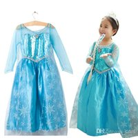 best princess - Hot Frozen Dress Elsa Anna For Girl Princess Cosplay Dresses Cartoon Girls Children Clothes Kids best gift
