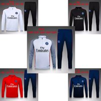 american football kid - 16 PSG Football Soccer Tracksuits Paris White Black Red Blue tracksuits survetements Men Or Kids clothing new Tracksuits