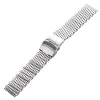 Wholesale Silver mm mm mm mm Band Stainless Steel Milanese Shark Mesh Watch Band Strap Bracelet