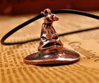 antique hats for men - New Style Harry Potter Pendant Necklace Antique Hat Metal Necklace for Men Women Christmas Gift M171