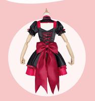 arm gate - Japanese Anime Gate Brave Scramble Cosplay Rory Mercury Costume Lolita Style Dress Arm Wrap Suspenders Bow Hair Band per set