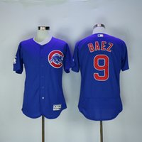 Wholesale 2016 New Arrivals Mens Chicago Cubs Jersey Javier Baez Blue Elite Flexbase Collection MLB Baseball Jersey Mix order