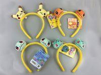 Wholesale HOT SALE Girl Cute Poke Pikachu Plush Hairwear Kawaii Cartoon and Game related Children and Women Hairband b428