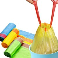Wholesale Retail Colored Drawstring Portable Thick Household Garbage Classification Bag Colors Color May Vary