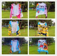 beach poncho - Kids Minions My Little Pony Bath Beach Towels Patrol Despicable Me Cloak Dog Potrol Bathrobe Robe Potrol Fireman Sam Minion Poncho B569