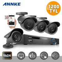 Wholesale ANNKE CH CCTV System P DVR HDMI TVL IR Weatherproof Outdoor CCTV Camera Home Security System Surveillance Kits