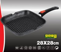 Wholesale Marble non stick induction grill pan frypan aluminum pot soup pot induction cooker special hot pot