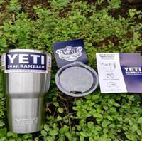 Wholesale 30 oz YETI Tumbler Rambler Cups Yeti Rambler Tumbler Stainless Steel oz Mugs Large Capacity Stainless Steel Travel Mug