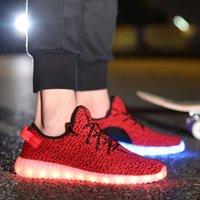Cheap LED luminous shoes Best Yeezy