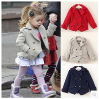 Wholesale Fashion Y High Quality Jackets for Girls Cotton Woolen Kids Outwear Autumn Spring Europen Princess Girls Coats Hot Jackets MC0041