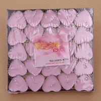 Wholesale Heart Shaped Tealight Romantic Aluminum Shell Tea Candles Christmas Wedding Celebration Atmosphere Source Party Accesories Decor