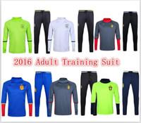 Wholesale Top Thai Quality Portugal long sleeve tracksuit Italy jerseys Spain Training suit men football sets ET