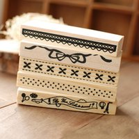 Wholesale Romantic Design Vintage Wooden Rubber Stamp Flower Lace Stamp Scrapbook Craft Handwrite Wedding Craft For Decoration