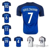 Wholesale Thailand Quality European Cup France Home Away White Blue Soccer Football Jerseys Giroud GRIEZMANN Payet MARTIAL POGBA