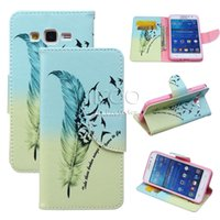 Wholesale Lovely Iphone Wallet Cases - Colored Drawing PU Case Cartoon Printing Lovely Flip Cover For iPhone 5 5s SE6 6s plus Samsung S6 S7 Edge Plus Note 5 4 3 A 3 5 J 2 3 5 G530