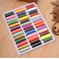 assorted sewing thread - PACK ASSORTED COLOURS MIXED COLORS SEWING THREAD ROLL HAND MACHINE EMBROIDERY POLYESTER SPOOL HIGH QUALITY