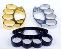 Wholesale Hot Selling Brand New THICK THICK mm STEEL BRASS KNUCKLE DUSTER color Gold plating silver knuckle duster
