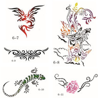 animal stencil designs - 15 Big Designs Self Adhesive Body Art Temporary Tattoo Airbrush Stencils Template Booklet of Butterfly and Animals Booklet