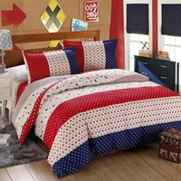 Wholesale top selling Summer and Autumn Printing and Dyeing Cotton Bedding Set with the soft touch