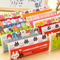 Wholesale 10 sets Cute Post It Bookmark Marker Memo pad Flags Index Tab Sticky Notes Label Paper Stickers Notepad Stationery Material Escolar