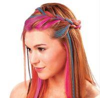 Wholesale Hot Huez colors Dye hair powdery cake Temporary Hair Chalk Powder Craze Soft Pastels Salon Party DIY Hair Colors