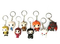 Wholesale Game of thrones Jon Snow Daenerys targaryen keychain New D Game of thrones Ice and Fires Imp pocket pop Car key chain