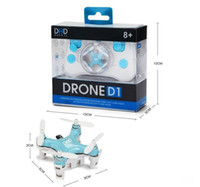 Wholesale DHD D1 RC Drone Ultra Mini Quadcopter Smallest Headless Mode G Channel Remote Control UFO high quality free DHL shipping