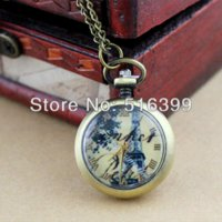 Wholesale Retro Style Delicate Hot Selling Antique Pattern Background Fashion Small Size Pocket Watch fashion pocket watch