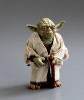 Wholesale 2016 Hot PVC Anime Toys Star War Mater Yoda PVC Standing Model For Fans