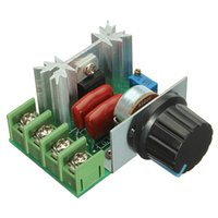 Wholesale 2pcs New V W Adjustable Voltage Regulator PWM AC Motor Speed Control Controller Assembly parts